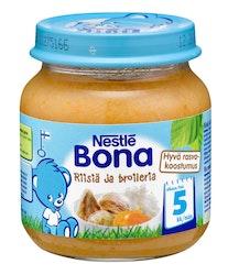 Nestlé Bona Riisiä ja broileria 125g 5kk