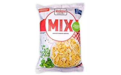Weekend Mix 180g Maustettu snacks-sekoitus