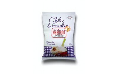 Weekend Snacks Chili & Garlic Snacks 200g