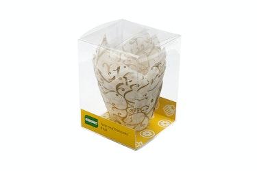 Eskimo tulip muffinsivuoka 8kpl värilajitelma ruskea ja valkoinen