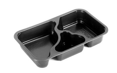 Comple PP-muovivuoka 1/4GN 3-osainen musta