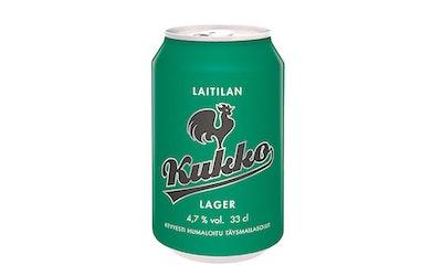 Kukko lager olut 4,7% 0,33l tlk