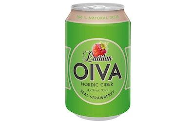 Laitilan Oiva real strawberry siideri 4,7% 0,33l