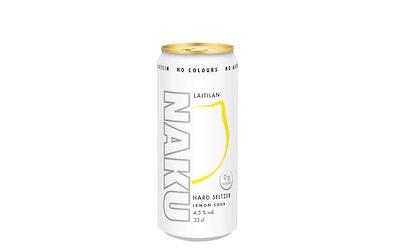 Laitilan Naku Hard Seltzer Lemon Sour 4,5% 0,33l