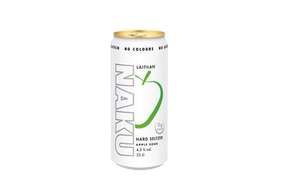 Laitilan Naku Hard Seltzer Apple Sour 4,5% 0,33l