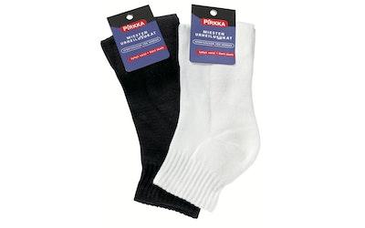 Pirkka miesten sukat lyhyt varsi valkoinen 40-42