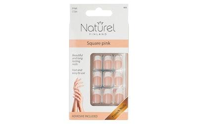 Naturel, Square Pink Tekokynnet (24)
