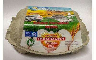 Farmimuna vapaan kanan GMO-vapaa kananmuna 348g M6