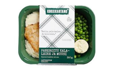 Kokkikartano Paneroitu kalaleike ja muusi 350 g