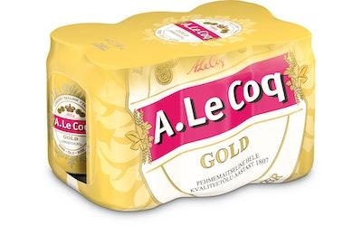 A.Le Coq Gold olut 4,7% 0,33l tlk 6-pack