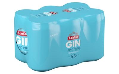 A. Le Coq Long Drink grapefruit 5,5% 0,33l tlk 6-pack