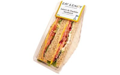 Eat&Enjoy salami&cheddar sandwich 200g