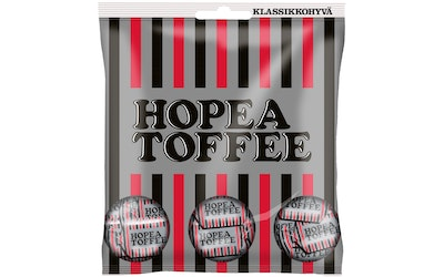 Hopeatoffee pussi 169g lakritsitoffee