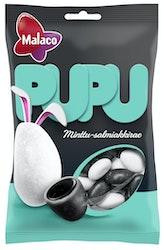 Malaco Pupu minttu- salmiakkiraepss 120g