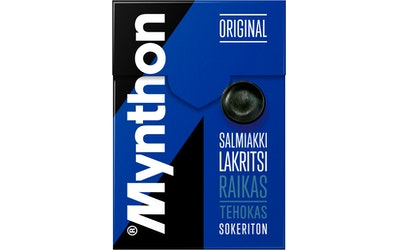 Mynthon pastillirasia 85g salmiakki-lakritsi sokeriton