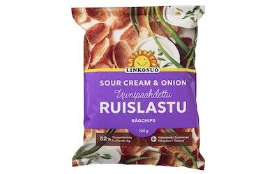 Linkosuo ruislastu sour cream & onion 200g