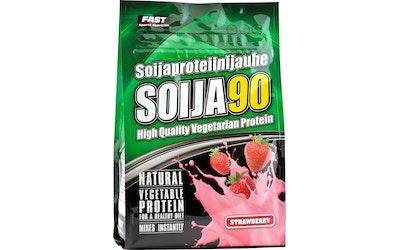 FAST Soija90 600 g mansikanmakuinen soijaproteiinijauhe