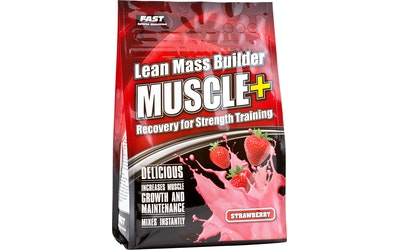 Muscle+ paljuomajauhe 900g mansikka