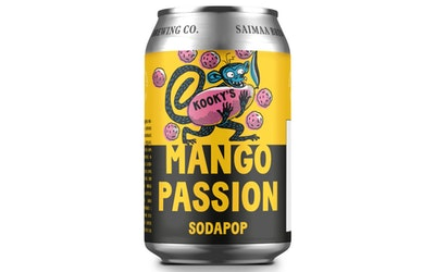 Kookys Sodapop Mango-Passion 0,33l - kuva