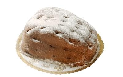 Leivo Käpykakku 800g, marsipaanikuorrutteinen täytekakku, sulatettu