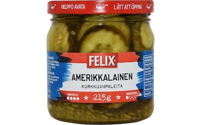 Felix Amerikkalainen kurkkuviipaleita makeassa mausteliemessä 410g/215g