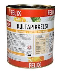 Felix kultapikkelsi kurpitsakuutioita mausteliemessä etikaton 3,2kg/2,1kg