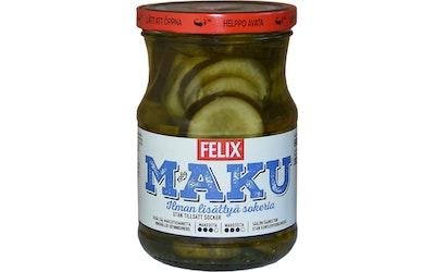 Felix Maku viipaloituja kurkkuja mausteliemessä ilman lisättyä sokeria 560g/300g