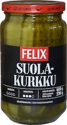 Felix lohkottuja kurkkuja makeuttamattomassa mausteliemessä 460g/230g