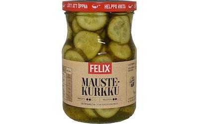 Felix maustekurkkuviipale 560g/300g viipaloituja kurkkuja mausteliemessä