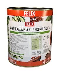 Felix amerikkalaisia kurkkukuutioita mausteliemessä 8,2kg/4,3kg