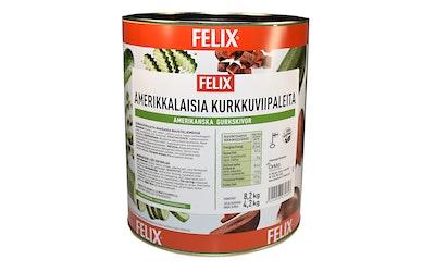 Felix amerikkalaisia kurkkuviipaleita makeassa mausteliemessä 8,2kg/4,2kg