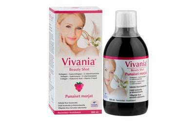Vivania Beauty Shot Punaiset marjat Kollageeni-hyaluronihappo-C-vit.val 500ml