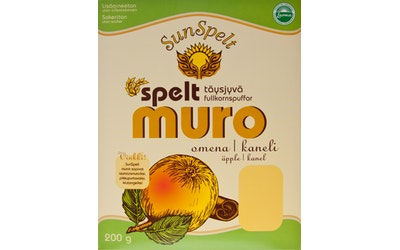 Sunspelt speltmuro 200g omenakaneli luomu