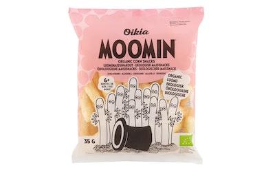 Real Snacks Moomin luomu maissinaksut mansikka 35g alkaen 6kk