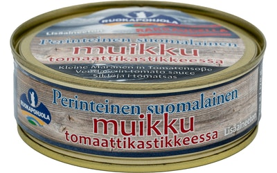Ruokapohjola Muikku tomaattikastikkeessa 210/170g perinteinen suomalainen