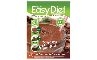 Leader ACKD Easy Diet 3in1 suklaanmakuinen vanukasjauhe 49g