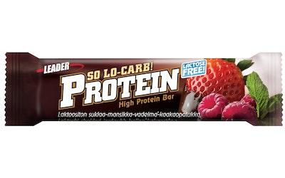 Leader protein so lo-carb proteiinipatukka 61g laktoositon suklaa-mansikka-vadelma-kaakaopatukka