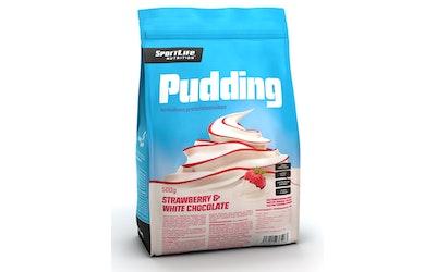 SportLife Nutrition Pudding 500g valkosuklaa-mansikka proteiinivanukas