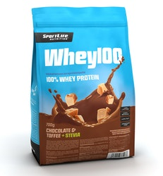 SportLife Nutrition Whey100 700g suklaa-toffee heraproteiinijauhe