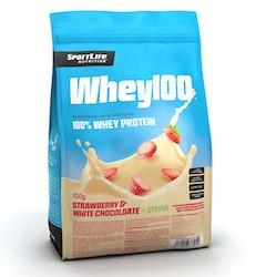 SportLife Nutrition Whey100 700g valkosuklaa-mansikka heraproteiinijauhe