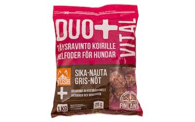 Mush Duo+ Täysravinto koirille sika-nauta 1 kg
