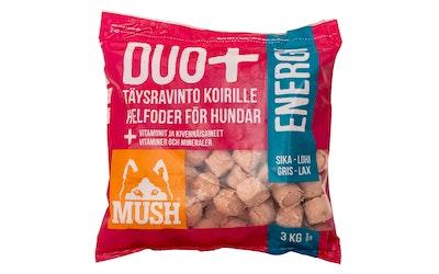 Mush Duo Energy täysravinto koirille 3kg sika-lohi PA