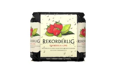 Rekorderlig mansikka-lime 4,5% 0,33l 4-pack