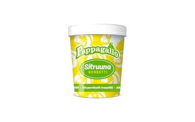 Pappagallo Sitruunasorbetti 500 ml lakto