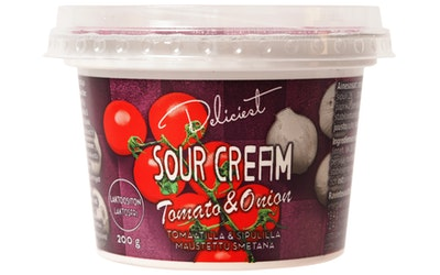 Deliciest sour cream 200g tomaatti-sipuli laktoositon
