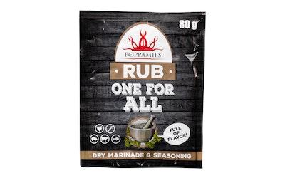 Poppamies One for All rub mausteseos 80g pintamaustamiseen ja marinointiin