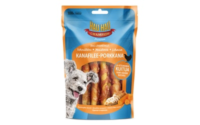 Hau-Hau Champion 2in1 lihaherkut 70 g kanafilee-porkkana