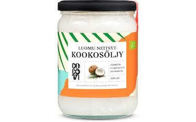 Cocovi kookosöljy kylmäpuristettu 500 ml Luomu