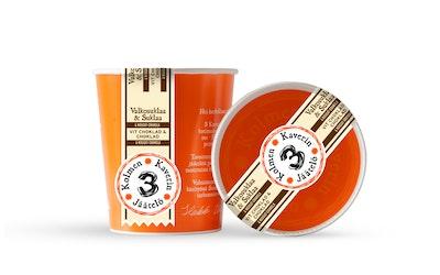 3 Kaverin Jäätelö 500ml valkosuklaa & suklaa & nougat-granola
