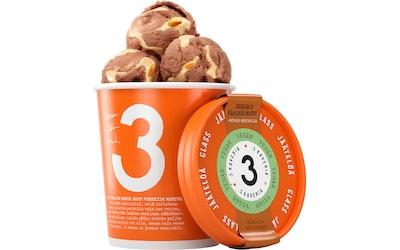 3 Kaverin Jäätelö 500ml suklaa & pähkinäkinuskikastike 100 % Vegan